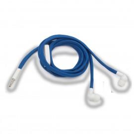 Słuchawki Shoestrings, niebieski/biały