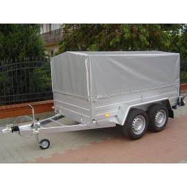 Przyczepa dwuosiowe hamowana platforma  EURO B-2600/0/A3