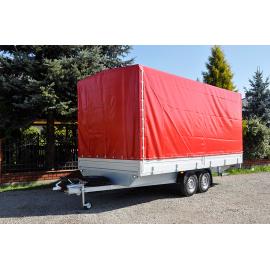 Przyczepa dwuosiowe hamowana platforma  solidnego producenta przyczep RYDWAN- EURO B-2600/1/K5