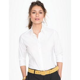 Zoom Ladies Stretch-3/4-Sleeve Blouse Effect