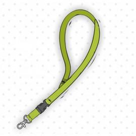 Smycz sznurówkowa płaska z karabinkiem i klamerką