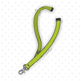 Smycz sznurówkowa płaska z karabinkiem i bezpiecznikiem