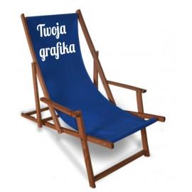 Leżak z logo - wersja komfort